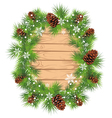 Christmas fir tree background vector image vector image