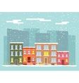 flat city in winter vector image