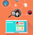 Concept Search people job profile vector image