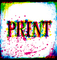 Print concept vector image