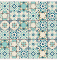gorgeous seamless pattern white old green moroccan vector image