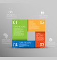 abstract shape with infographic elements vector image