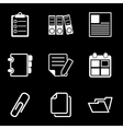 White Document Office Icons vector image