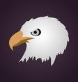 hawk head vector image