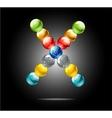 magic web colored circles sign vector image vector image
