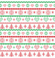 Red and green on the white background Nordic Chris vector image