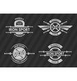 Set of sports emblems logos symbols