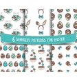 Set Of Seamless Patterns Easter vector image