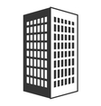 black tall building with white windows vector image