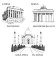 architectural symbols vector image