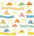 baby accessories seamless vector image