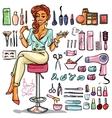 Beauty Salon cartoon collection vector image