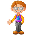 business man presenting cartoon vector image