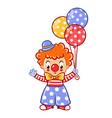 circus clown vector image