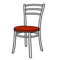 Classic color chair vector image