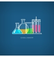 Flasks and Test-tube vector image