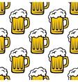 Fresh beer tankard seamless pattern vector image