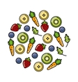 fruits and vegetables icon vector image