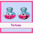 Perfume funny characters on a blue background vector image