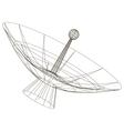 schematic drawing telescope vector image