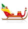 christmas santa sleigh 02 vector image