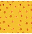 Sea star seamless pattern Marine vector image