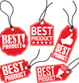 Best product red tag set vector image