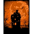 Scary halloween with magical abbey EPS 8 vector image