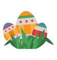 Easter eggs flat syle icons isolated vector image