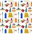Cleaning service seamless pattern House tools vector image vector image