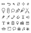Web interface tools signs isolated on white vector image