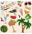 Colorful summer set vector image
