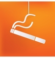 Smoking sign cigarette icon vector image