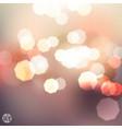 Bokeh light Vintage background vector image