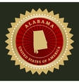 Star label Alabama vector image