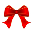 Red bow with gold trim vector image