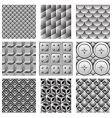 monochrome pattern set vector image