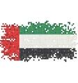 United Arab Emirates grunge tile flag vector image vector image