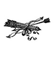 ancient bow and arrows vector image