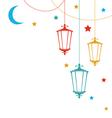 Islamic Postcard for Ramadan Kareem vector image