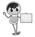 Boy character standing alone vector image
