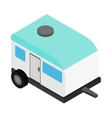 Camping trailer 3d isometric icon vector image