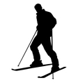 skier silhouette isolated vector image vector image