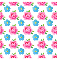 Flowers stylized roses forget-me-not seamless vector image vector image