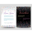 Brochure flyers template with colorful confetti vector image