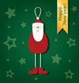 Cute Christmas cards depicting Santa Claus vector image