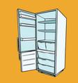 open empty refrigerator vector image