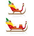 christmas santa sleigh 03 vector image