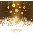 Abstract Christmas Background Snowflakes night vector image