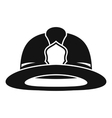 Fireman helmet icon simple style vector image